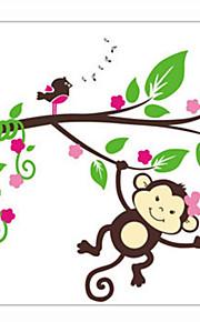 Животные / Романтика / Мода Наклейки Простые наклейки Декоративные наклейки на стены,PVC материал Съемная Украшение дома Наклейка на стену
