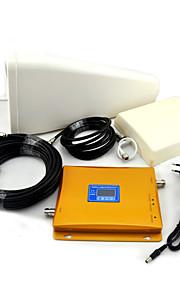 gsm / 3g W-CDMA mobiltelefon dual band signal booster, signal booster + log periodisk antenne + plane antenne