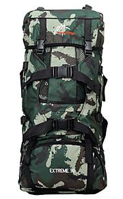 75 L mochila Acampada y Senderismo Al Aire Libre Multifuncional Verde / Camuflaje Nilón Other
