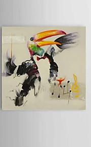 מצויר ביד מופשט / טבע דומם / בעלי חיים ציורי שמן,מודרני / קלאסי / סגנון ארופאי פנל אחד בד ציור שמן צבוע-Hang For קישוט הבית