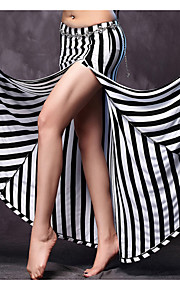 Belly Dance Outfits 2 Pieces(Skirts+Shorts) Women's Performance Modal Split Front Zebra Color No Waist-Chain&Tops