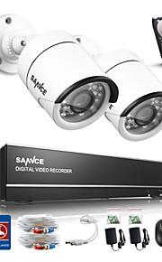 sannce® 4ch 720p câmera ahd vedio CCTV DVR de vigilância em casa sistema de câmera de segurança built-in HDD de 1TB