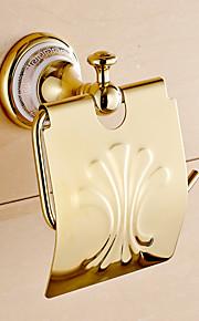 Porta rotolo di carta igienica / Ti-PVD / A muro /4.2*2.4*6.9 inch /Ottone /Moderno /12CM 6CM 0.55