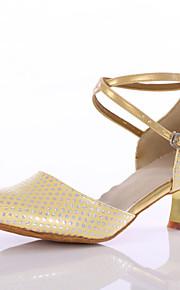 Sapatos de Dança(Azul / Rosa / Dourado) -Feminino-Personalizável-Latina