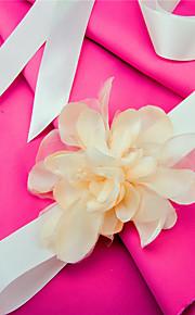 Satin Wedding / Party/ Evening / Dailywear Sash - Appliques / Floral Women's Sashes