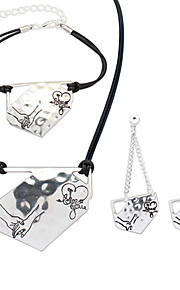 European Style Fashion Simple Irregular Metal Hand in Hand Lover Necklace Bracelet Earring Sets