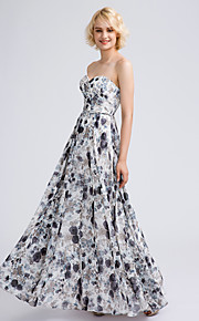 Lanting Bride Ankle-length Chiffon Bridesmaid Dress A-line Sweetheart with Criss Cross