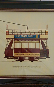 Stretched Canvas Print, Electric Tramcar