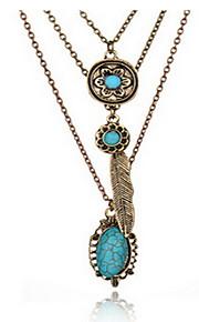 Halskette Anhängerketten Schmuck Goldfarben Aleación / Edelstein Alltag / Normal 1 Stück Geschenk