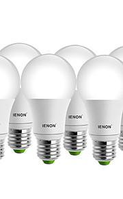 7W E26/E27 Ampoules Globe LED A60(A19) 1 COB 560-630 lm Blanc Chaud / Blanc Froid Décorative AC 100-240 V 6 pièces