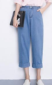 Women's Solid Blue Shorts / Wide Leg Pants,Simple