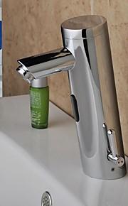 모던 주방,욕조수전(Centerset) 센서 타입 with  솔레노이드 밸브 손 무료 한 구멍 for  크롬 , 욕실 싱크 수도꼭지
