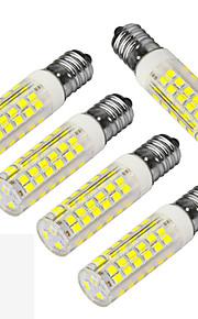 5W E14 Ampoules Maïs LED T 75 SMD 3528 400-480 lm Blanc Chaud / Blanc Froid Décorative AC 100-240 V 5 pièces