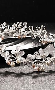 Women's Rhinestone / Crystal / Brass / Imitation Pearl Headpiece-Wedding Tiaras 1 Piece