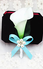 Wedding Flowers Free-form Lilies Boutonnieres Wedding / Party/ Evening Blue / Pink Satin