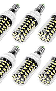 7W E12 / E26/E27 Ampoules Maïs LED T 64 SMD 5733 560 lm Blanc Chaud / Blanc Froid Décorative AC 110-130 V 6 pièces