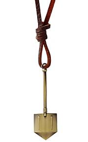 Collier Pendentif de collier Bijoux Brun / Cuivré Alliage / Cuir Quotidien / Décontracté 1pc Cadeau