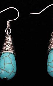Геометрической формы,Бижутерия 1 пара Винтаж / Богемия Стиль Синий Сплав / Серебрянное покрытие Повседневные
