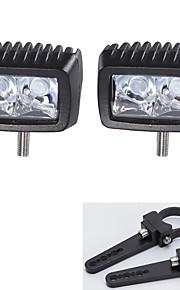 2pc Cree 10w LED verlichting bar offroad rijden café 12v en een paar montagebeugels