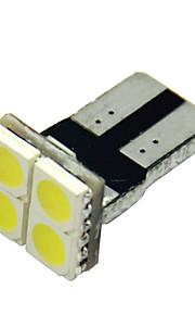 10pcs T10 5050 4 SMD blanco llevó luces de la matrícula del coche lateral de cuña marcador de la luz de placa bombilla (12V CC)