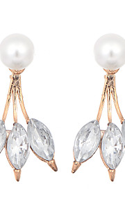 European and American Exaggerated Earring 18K Gold Plated Pearl Crystal Water Drop Earrings for Women Gifts