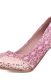 Homme-Mariage / Habillé / Soirée & Evénement-Rose / Blanc / Or-Talon Aiguille-Talons / Bout Arrondi-Chaussures à Talons-Paillette /