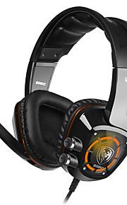 Somic G910 Høretelefoner (Pandebånd)ForComputerWithMed Mikrofon / DJ / Lydstyrke Kontrol / Gaming / Lyd-annulerende