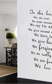 AOFU Words & Quotes Wall Stickers Plane Wall Stickers Decorative Wall Stickers, Home Decoration Wall Decal AF088