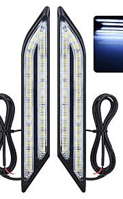 exled universele waterproof wit / blauw / rood 66-led-dagrijlichten mistlampen voor in de auto (paar)