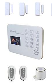 systèmes d'alarme GSM filaires kit sans fil système maison lcd maison de la sécurité de la voix tactile cambrioleur alarma ios android app