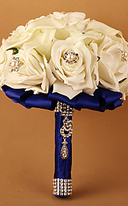 Brudebuketter Rund Roser Buketter Bryllup Polyester 8.66 tommer (ca. 22cm)