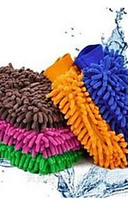car wash wasstraat handschoenen auto reinigingsmiddelen gereedschappen washandje kleur willekeurige