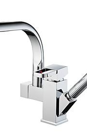 Nutida / Moderna Utdragbar / Pull-down / standard Pip Kärl Regndusch / brett spary / Utdragbar dusch / Roterbara with  Keramisk Ventil