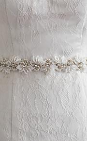 Satin Mariage / Fête/Soirée / Quotidien Ceinture-Billes / Appliques / Perles / Fleur Femme 250cm Billes / Appliques / Perles / Fleur