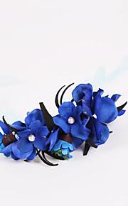 Bouquet sposa Legato Rose Braccialetto floreale Matrimonio / Partito / sera Poliestere / Chiffon / Schiuma 10 cm ca.