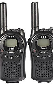 T668446 Walkie-talkie 0.5W 8 Channels 400-470MHz AA alkaline battery 3km-5kmVOX / achtergrondverlichting / Encryptie / Waarschuwing laag