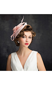 Women's Flax / Net Headpiece-Special Occasion Fascinators 1 Piece Clear Irregular 25