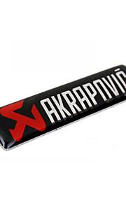 adesivi per auto, metallo alluminio colla di personalità logo adesivi, anti sfregamento coda segno