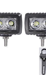 2pc Cree 10w LED verlichting bar vloed offroad rijden café 12v en een paar montagebeugels