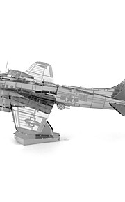 Rompecabezas juguete de la novedad Bloques de construcción Juguetes de bricolaje Aeronave 1 Metal Plata juguete de la novedad