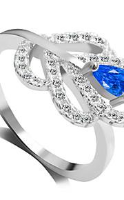 Alliances Mode Mariage / Soirée Bijoux Alliage Femme Bagues Affirmées 1pc,6 / 7 / 8 / 9 Bleu