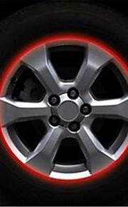 een 17 inch wiel autoband namens 10mm reflecterende ring sticker / wheel 7-2d \ 444