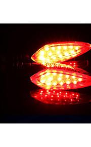 horizonte de la motocicleta LED se encienden las luces, fuera de la carretera calle 12v vehículo encendido luces de dirección, gire a la