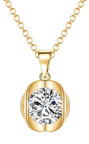 Modische Halsketten Anhängerketten Schmuck Krystall / Aleación / vergoldet Alltag / Normal Goldfarben / Silber 1 Stück Geschenk
