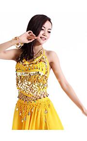 Belly Dance Tops Women's Performance Chiffon Sequins 1 PieceBelly Dance Sleeveless Natural
