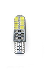 10st t10 3014 24SMD canbus decoratieve lamp / leeslamp / kentekenplaatverlichting / deur lamp wit DC12V