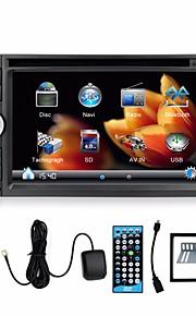 2 din 6.2 '' lettori DVD 3D rotante ui GPS Navi autoradio universale nel cruscotto bt video stereo SWC