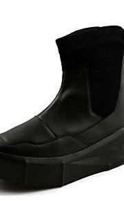 Черный / Белый-Мужской-На каждый день-Хлопок-На плоской подошве-Удобная обувь-Ботинки