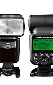 sidande® df-800 1 / 8000s TTL flash di luce Speedlite wireless per Nikon D7100 D7000 D5100 D5200 fotocamera D900 DSLR