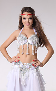 Belly Dance Outfits Women's Performance Beading / Rhinestones / Paillettes / Sequins / Tassel(s) 2 Pieces S-XL size
